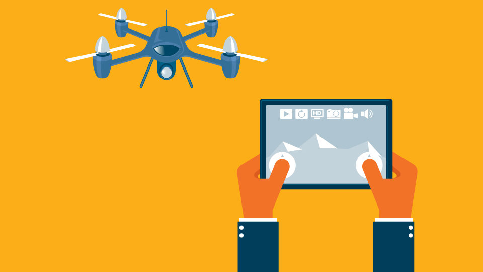 Drone and Tablet