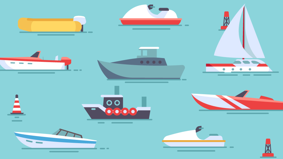 Lines of Boats