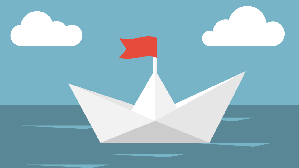 Boat with Flag