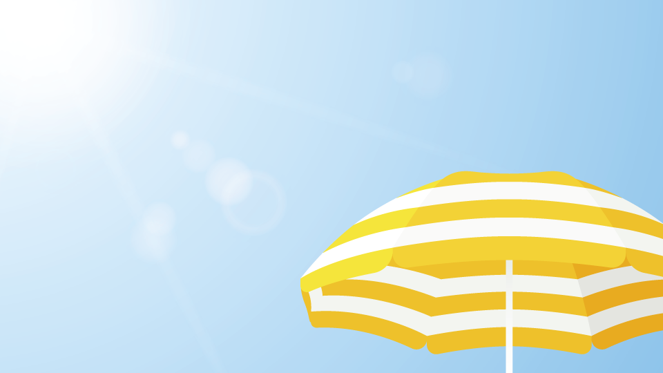 Umbrella in the sun