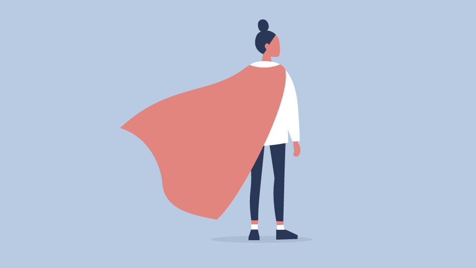 woman with cape